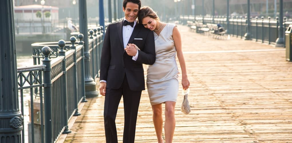 black tie with girl