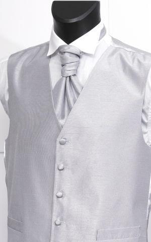 Silver Shantung Waistcoat