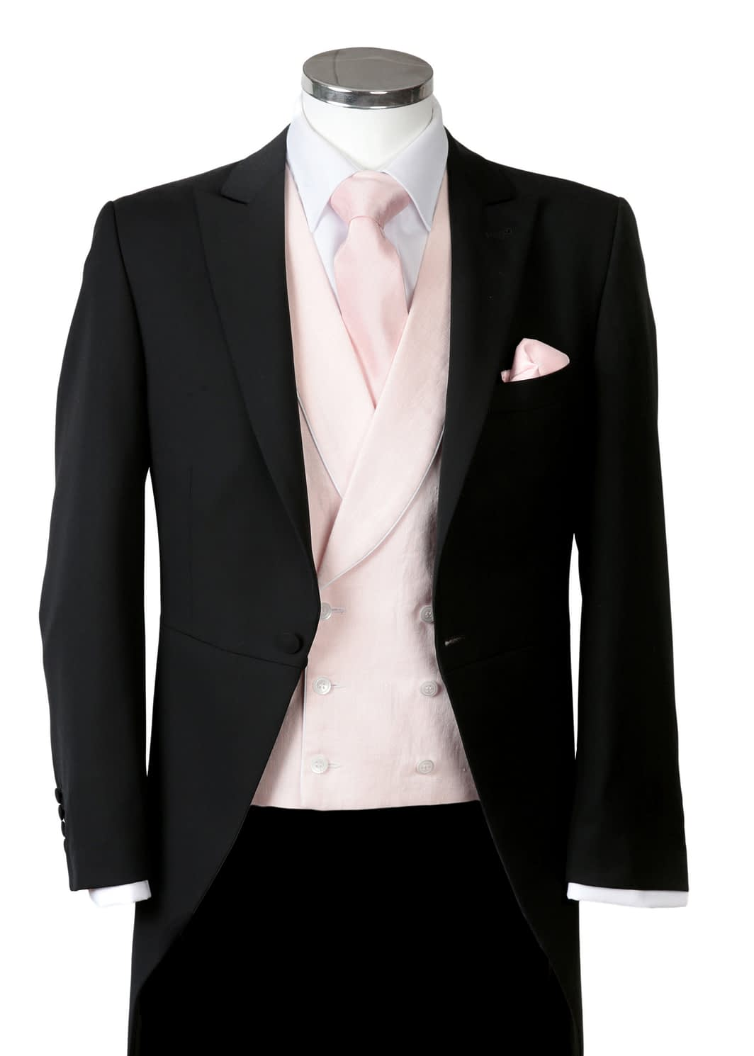Wilvorst Black slim fit tail coat