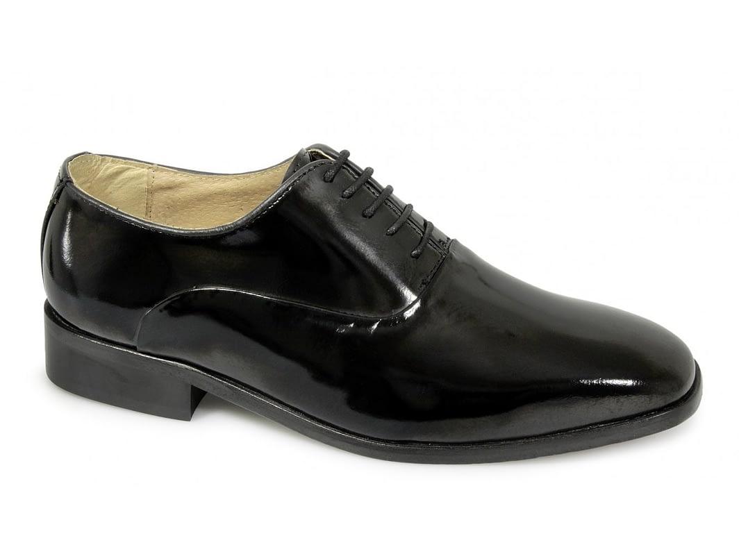 Montecatini Black Patent Lace Up Dress Shoes