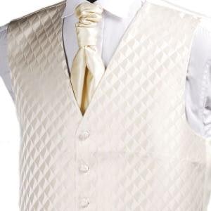 Ivory Diamond Waistcoat