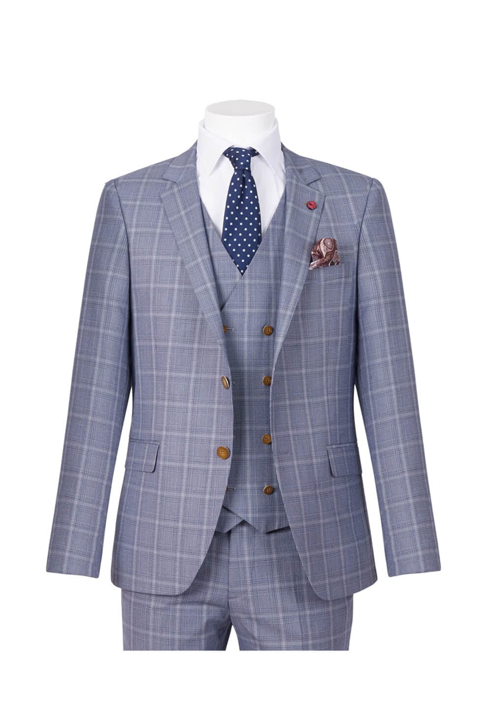 Ed Oliver Three Piece Check Suit