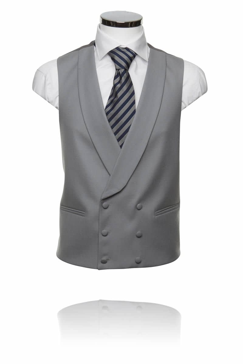 Double Breasted Dove Prestige Waistcoat