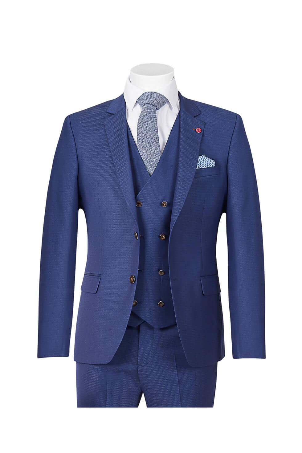 Ed Oliver Three Piece Navy Suit