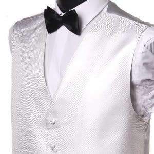 Poly White Waistcoat