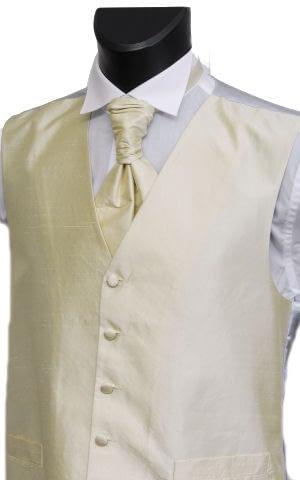 Champagne Silk Waistcoat