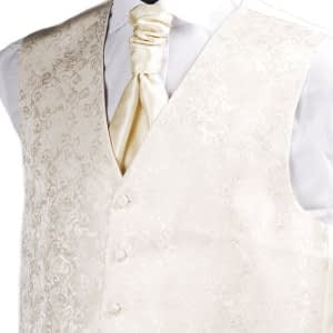 Champagne Brocade Waistcoat