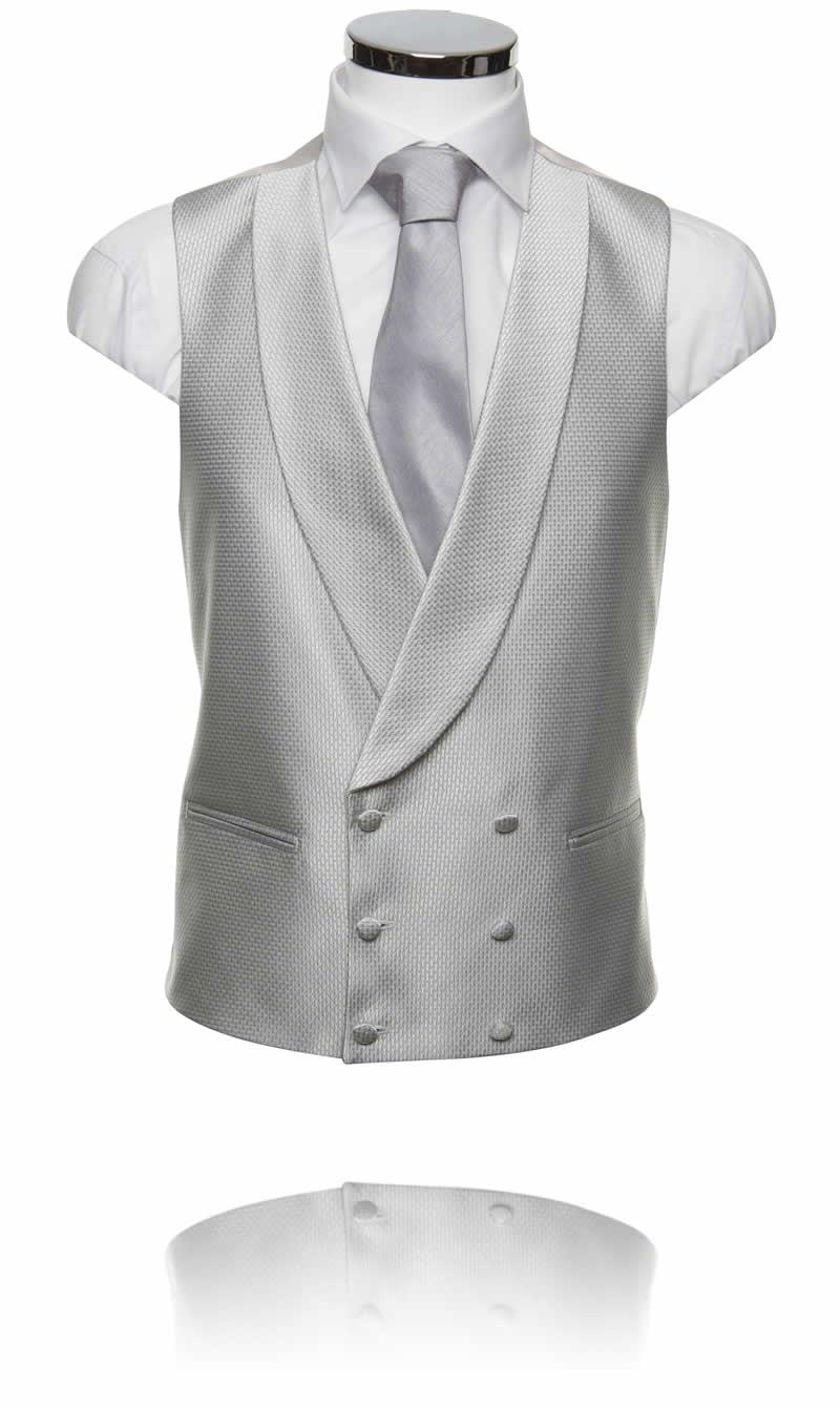 Double Breasted Silver Prestige Waistcoat