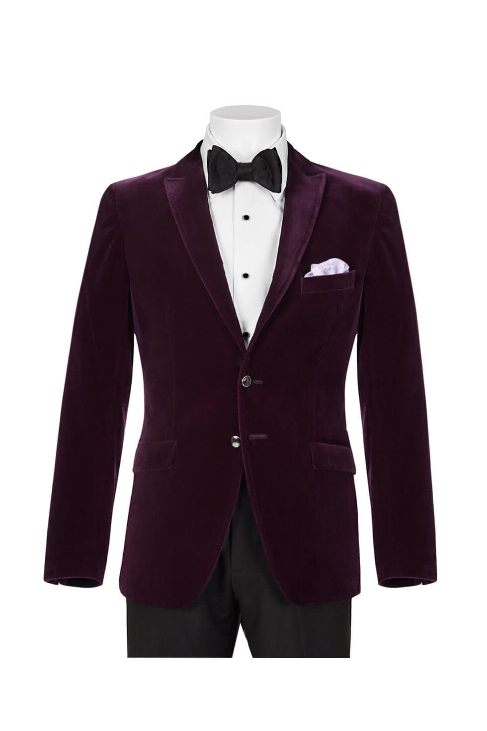 Wilvorst Purple Velvet Dinner Jacket