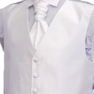 Ivory Shantung Waistcoat