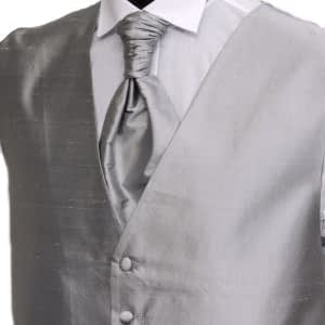 Platinum Silk Waistcoat