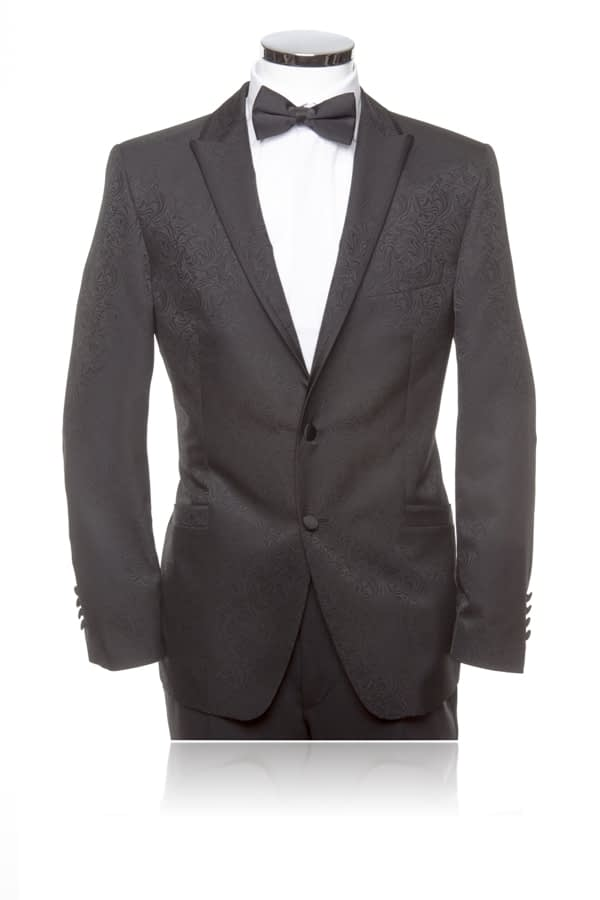 Wilvorst Black Smoking Jacket with Black Trousers